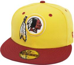 New Era Washington Redskins Yellow Red TC 2 Tone Cap Team Back 59fifty Fitted Limited Edition