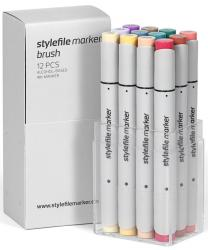 Stylefile Grafikmarker Brush 12er Main C Set  Box Grafik Marker Pens Stift