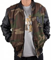 Wu-Wear Protect Ya Neck College Bomber Jacket Camouflage Wu-Tang Clan M-XXL
