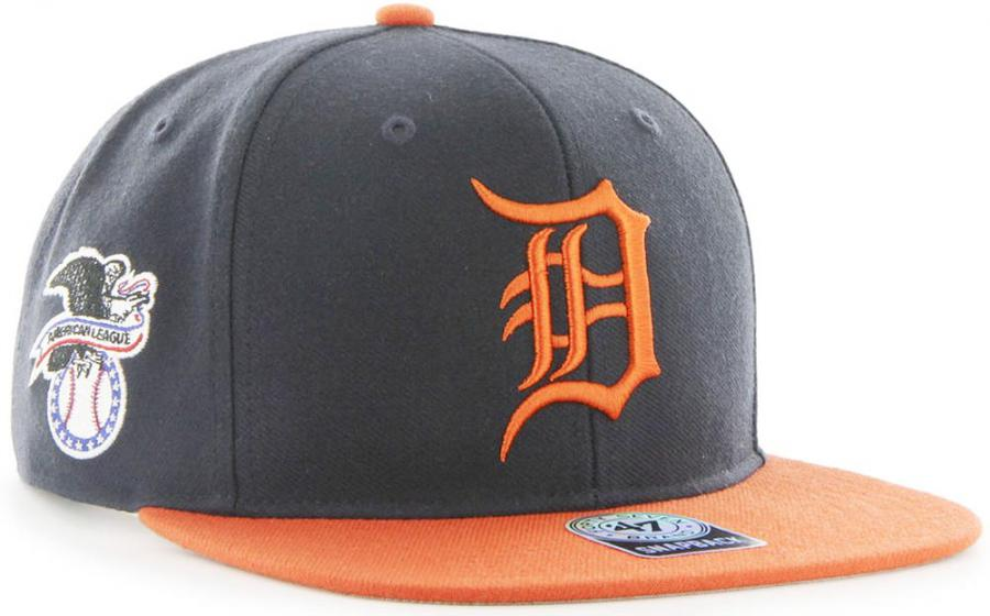 f616a4347 Forty Seven 47 Brand MLB Detroit Tigers Sure Shot 2 Tone Snapback ...