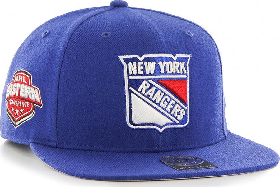 e295d5d6a48 Forty Seven 47 Brand New York Rangers NHL Sure Shot Captain Snapback Cap  Light Royal - www.hiphopgermany.de