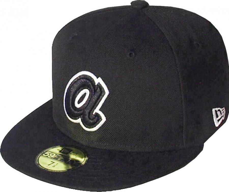 New Era Atlanta Braves Black White Logo Cap 59fifty 5950