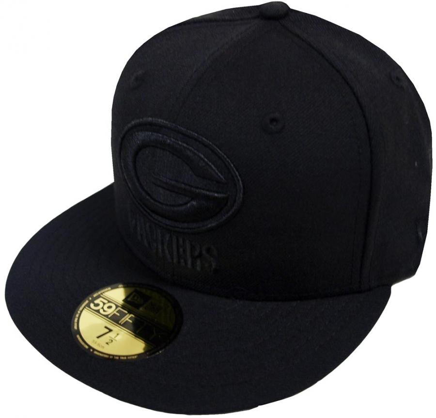 cbeb9965189 New Era NFL Green Bay Packers Black On Black 59fifty Fitted Cap Limited  Edition - www.hiphopgermany.de