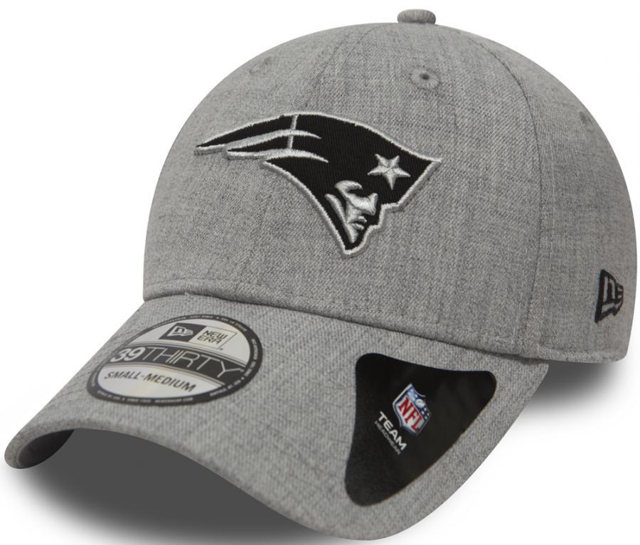 New Era New England Patriots Heather Essential Stretch Fit Cap Grey