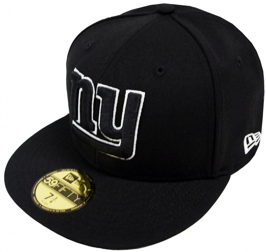 new era new york giants black white 59fifty fitted cap. Black Bedroom Furniture Sets. Home Design Ideas