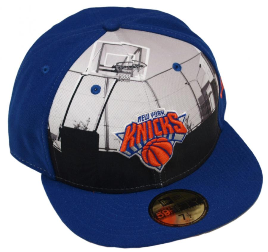 5687158dabe New Era Round Dway NY Knicks Cap 59fifty Basic Fitted Team Cap Kappe Herren  Men - www.hiphopgermany.de