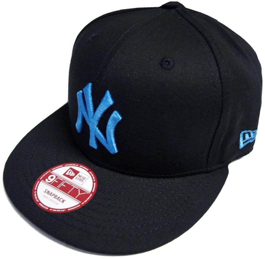 new era seasonal basic new york yankees blue snapback cap. Black Bedroom Furniture Sets. Home Design Ideas