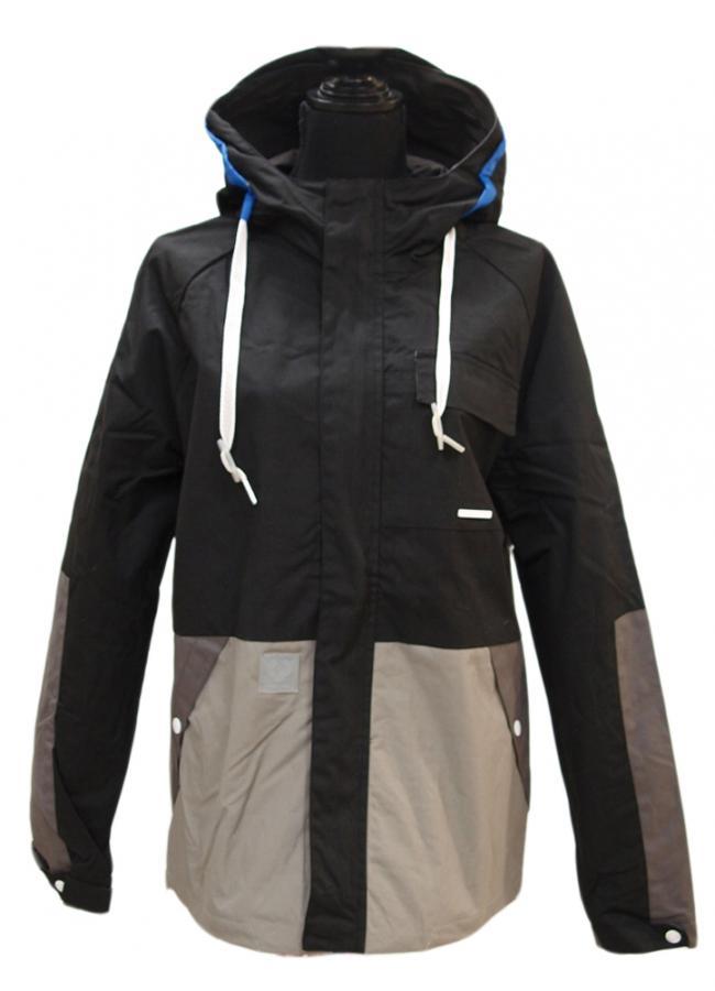 ragwear slide blocks jacke black jacket uebergangsjacke. Black Bedroom Furniture Sets. Home Design Ideas