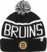 47 Brand Boston Bruins Calgary Cuff Knit With Pom Black Beany Hat One Size Mütze Forty Seven