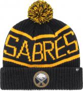 47 Brand Buffalo Sabres Calgary Cuff Knit With Pom Navy Beany Hat One Size Mütze Forty Seven