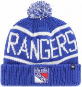 47 Brand New York Rangers Calgary Cuff Knit With Pom Royal Beany Hat One Size Mütze Forty Seven