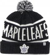 47 Brand Toronto Maple Leafs Calgary Cuff Knit With Pom Navy Beany Hat One Size Mütze Forty Seven
