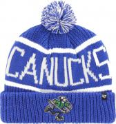 47 Brand Vancouver Canucks Calgary Cuff Knit With Pom Royal Beany Hat One Size Mütze Forty Seven