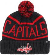 47 Brand Washington Capitals Calgary Cuff Knit With Pom Navy Beany Hat One Size Mütze Forty Seven