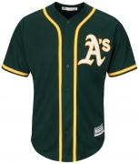 Majestic Athletic Oakland Athletics Cool Base MLB Replica Jersey Green Baseball Trikot Tee T-Shirt