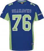Majestic Athletic Seattle Seahawks NFL Moro Poly Mesh Jersey T-Shirt Trikot