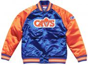 Mitchell & Ness Cleveland Cavaliers NBA HWC Tough Season Satin Jacket Bomber College Jacke