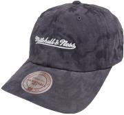 Mitchell & Ness Grey INTL078 Branded Tonal Camo Dad Hat Strapback Cap