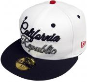 New Era California Republic Script Cap White 59fifty 5950 Fitted Limited Edition