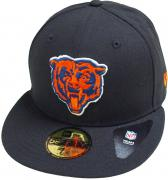 New Era Chicago Bears Head Logo Black NFL Cap 59fifty 5950 Fitted Basecap Kappe Men Special Limited Edition