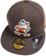 New Era Cleveland Browns CC Logo NFL Cap 59fifty 5950 Fitted Basecap Kappe Men Special Limited Edition