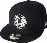 New Era Dallas Mavericks Black White Logo Cap 59fifty 5950 Fitted NBA Limited Edition