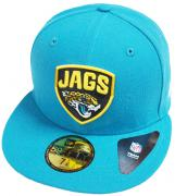 New Era Jacksonville Jaguars Teal Shield NFL Cap 59fifty 5950 Fitted Basecap Kappe Men Special Limited Edition