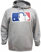 New Era MLB Logo Hoody Grey Sweater Hoodie Herren Mens