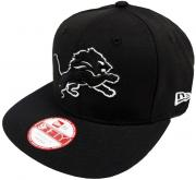 New Era NFL Detroit Lions Black White Logo Snapback Cap 9fifty Limited Edition