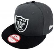 New Era NFL Oakland Raiders Graphite Snapback Cap S M 9fifty Limited Edition
