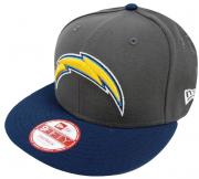 New Era NFL San Diego Chargers Graphite Snapback Cap S M 9fifty Limited Edition