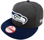 New Era NFL Seattle Seahawks Graphite Snapback Cap S M 9fifty Limited Edition