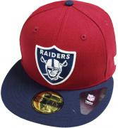 New Era Oakland Raiders Cardinal Navy NFL Cap 59fifty 5950 Fitted Basecap Kappe Men Special Limited Edition