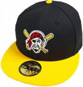 New Era Pittsburgh Pirates Logo Black Cooperstown MLB Cap 59fifty 5950 Fitted Basecap Kappe Men Special Limited Edition