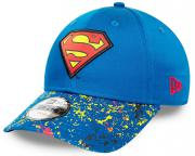 New Era Superman Kids Character Splatter Visor 9Forty Snapback Cap Child Kind