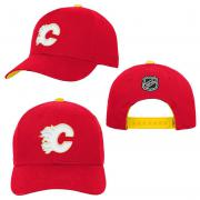 OuterStuff Calgary Flames Youth Precurved Snapback Cap Curved Visor Teenager Size