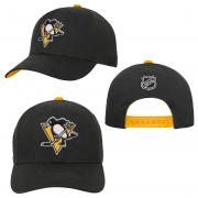 OuterStuff Pittsburgh Penguins Youth Precurved Snapback Cap Curved Visor Teenager Size