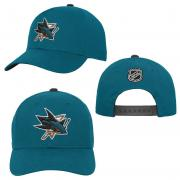 OuterStuff San Jose Sharks Youth Precurved Snapback Cap Curved Visor Teenager Size