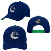 OuterStuff Vancouver Canucks Youth Precurved Snapback Cap Curved Visor Teenager Size
