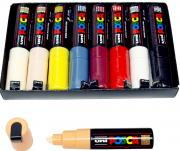 Posca PC 8M 8er Marker Set 8mm EX PC8K 8NC09 Marker Pens Paint Design Art
