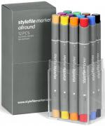Stylefile Grafikmarker Allround 12er Main A Set  Box Grafik Marker Pens Stift